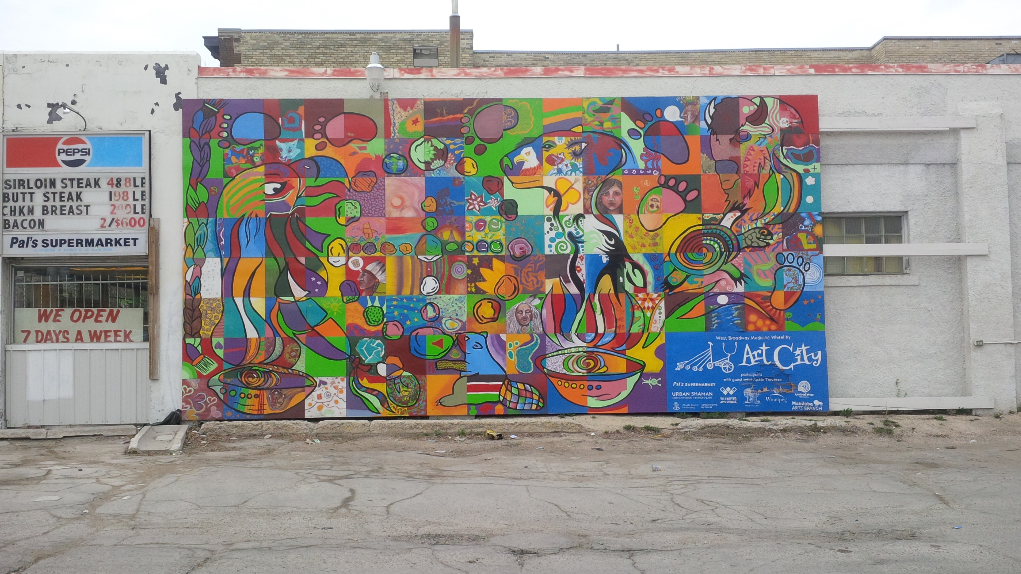 This is a city that loves its murals this is just one of for Community mural